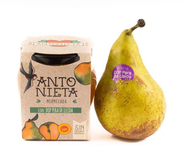 Melmelada de pera de la D.O de Lleida de la marca Antonieta Fruits