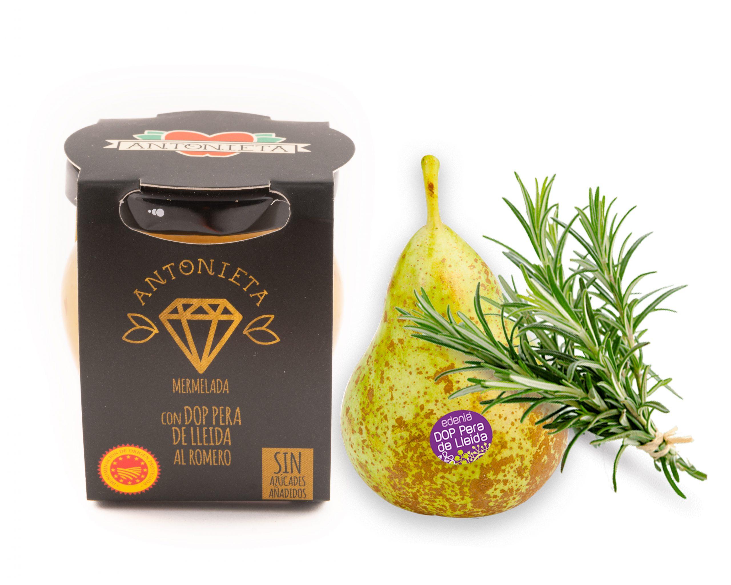 Melmelada de pera de la D.O de Lleida amb romaní de la marca Antonieta Fruits