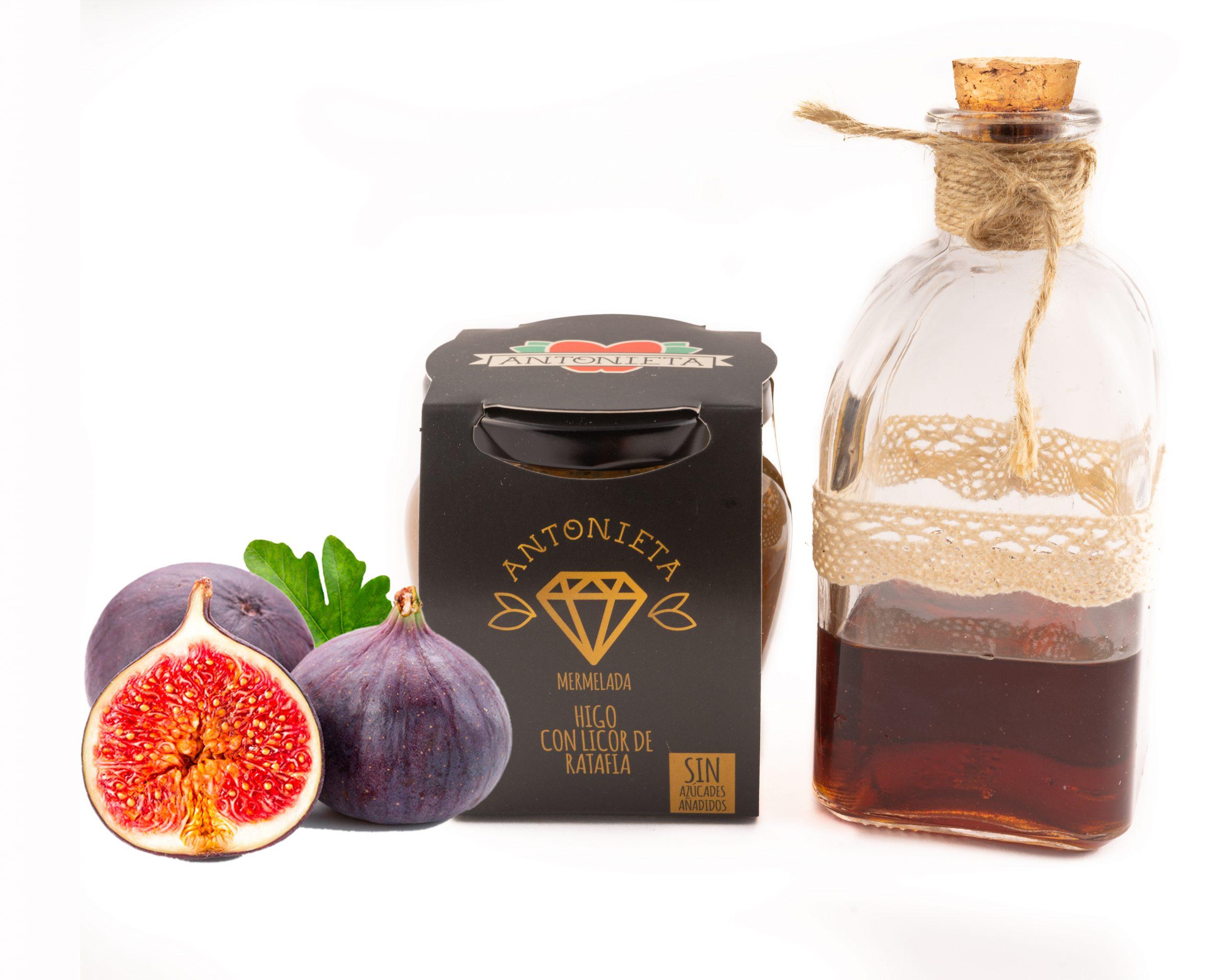 Melmelada de figa amb licor de ratafia de la marca Antonieta Fruits